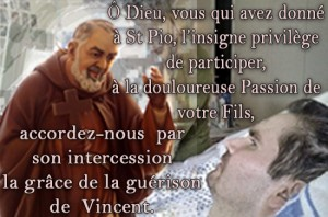 Vincent Lambert priere a Padre Pio